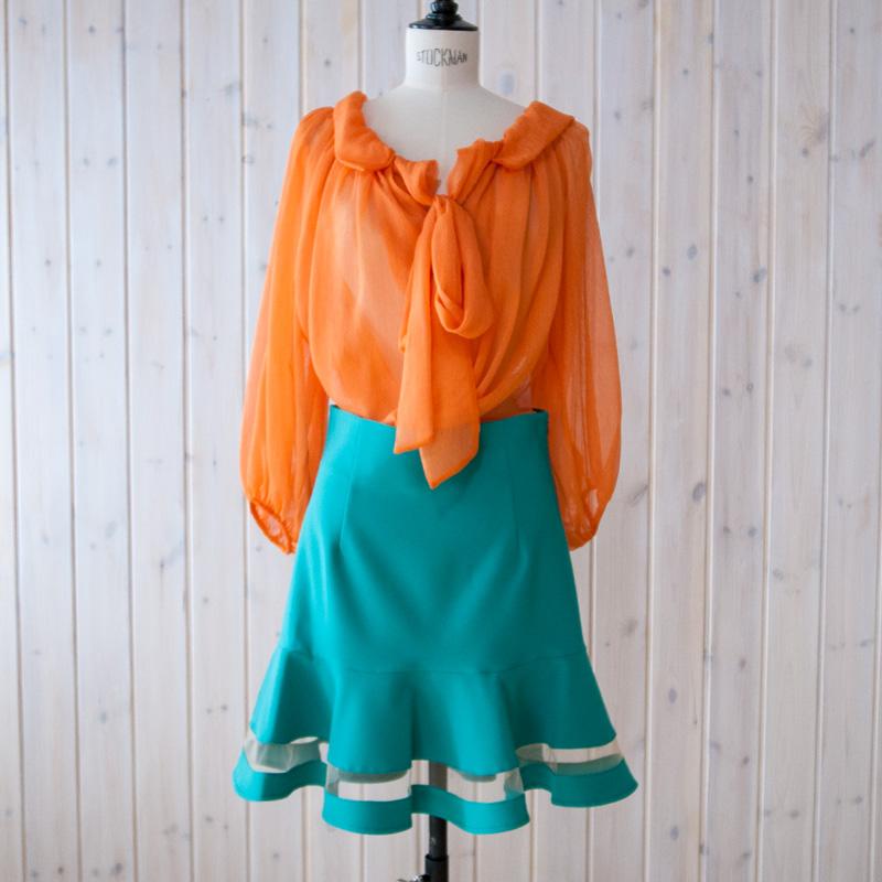 シースルーラインスカート