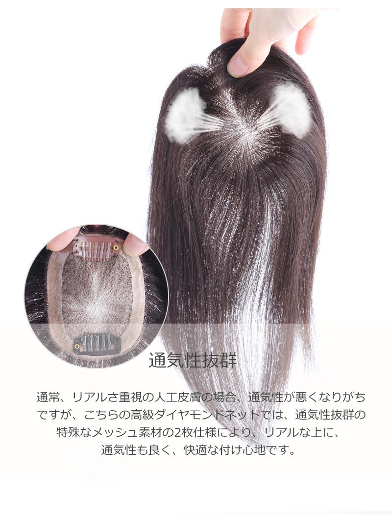 人毛100% 部分ウィッグ【20cm】前髪ウィッグ 人毛 ウィッグ かつら ポイントウィッグ 白髪かくし つけ毛 私元気 BHAD710-20[10703]