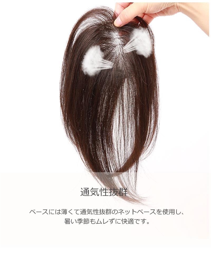 人毛100% 前髪ウィッグ【25cm】 部分かつら ポイントウィッグ 私元気 BHA710-25 [10475]