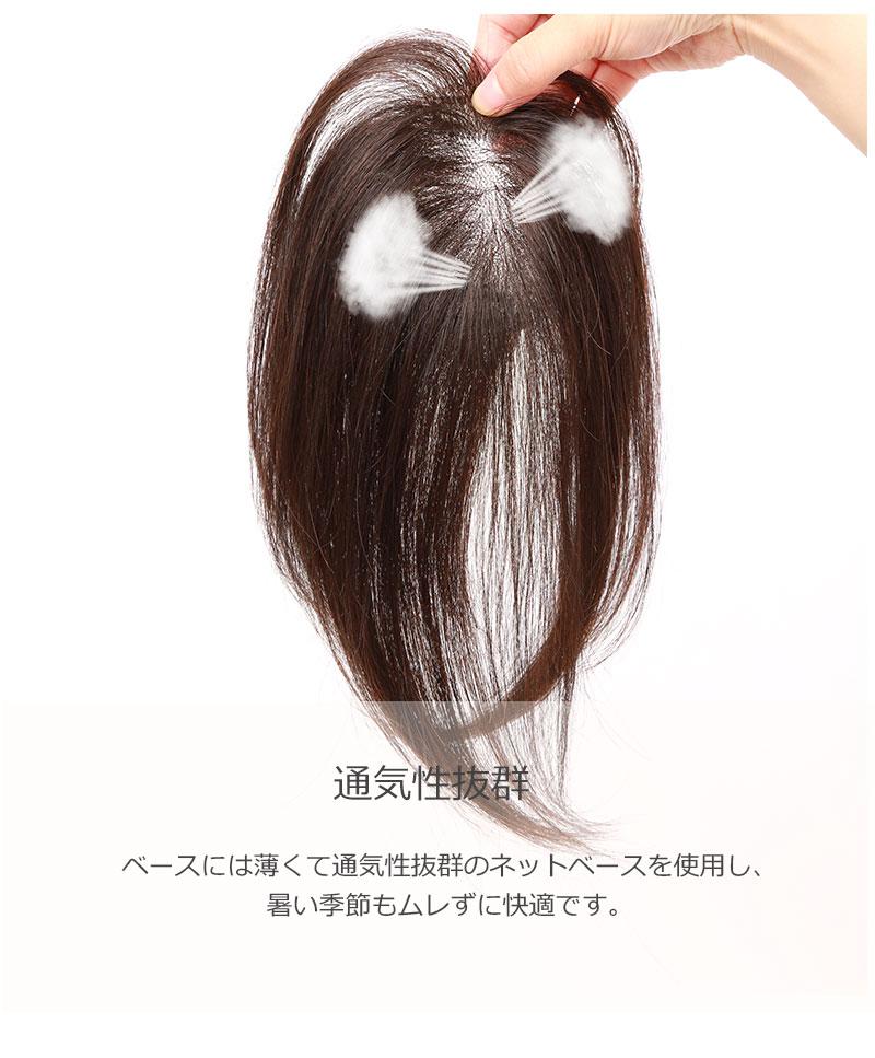 人毛100% 前髪ウィッグ 部分ウィッグ 人毛 ウィッグ かつら ポイントウィッグ 白髪かくし  私元気 BHAB710-25[10476]