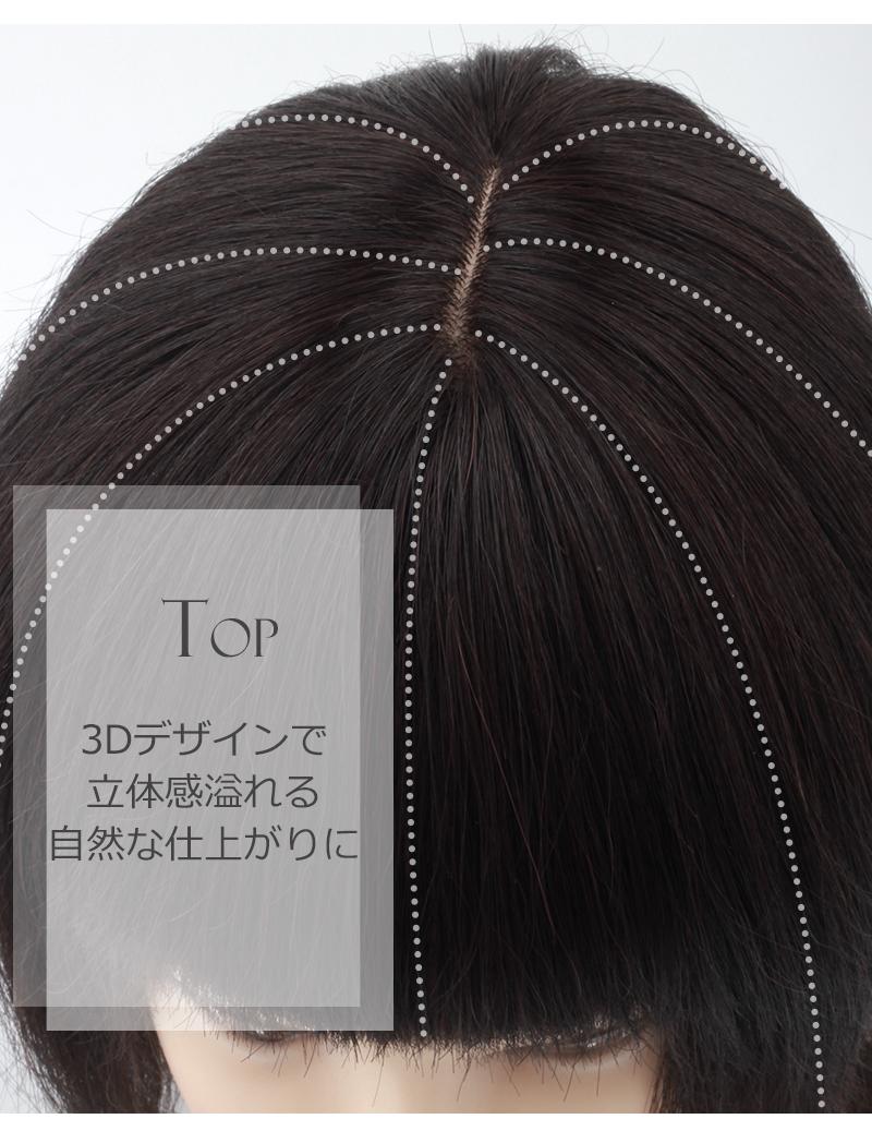 人毛100% 部分ウィッグ 前髪ウィッグ 人毛 ウィッグ かつら ポイントウィッグ 白髪かくし つけ毛 ロング 私元気 BAB1314-20[10677]