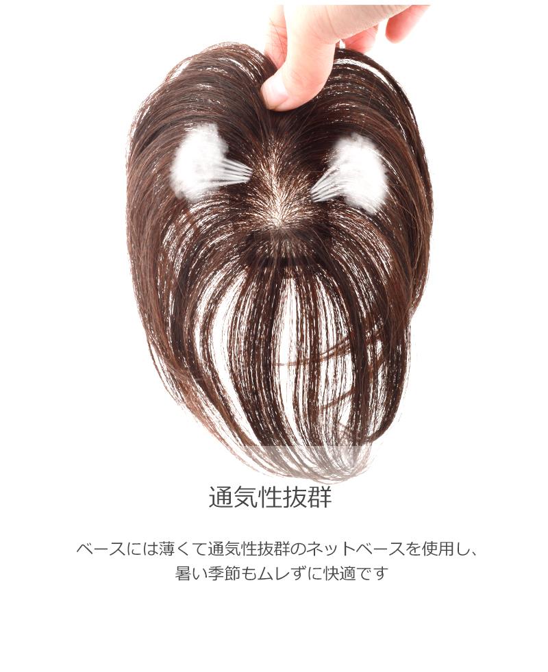人毛100% 部分ウィッグ 人毛 ウィッグ かつら ポイントウィッグ 白髪かくし 男女兼用 私元気 BAZF48[10693]