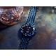 スウェーデン Åkerfalk オーカーフォーク 24時間表示 腕時計 ブラック AK-153 黒文字盤 北欧デザインウォッチ 60年代ヴィンテージ レザーケース付 日本正規販売店