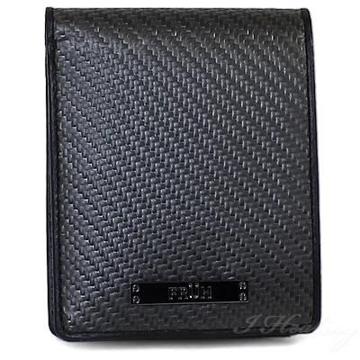 FRUH二つ折り財布 高耐久リアルカーボン ショート ウォレット 黒 フリューGL027 メンズ 日本製