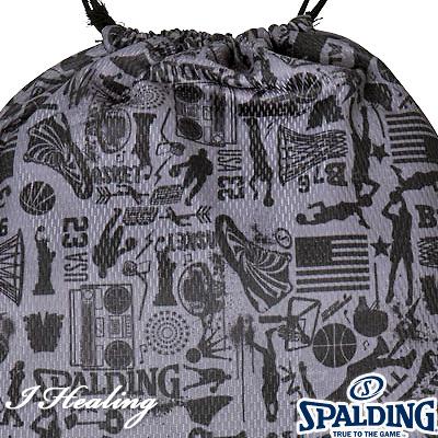 SPALDING ナップサック 壁画柄グラフィティグレー バスケットボール バッグ リュック スポーツ スポルディング SAK001GG GRAFFITI GRAY