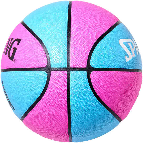 スポルディング バスケットボール 7号 ヒート コンポジット マイアミ バイス ピンク ブルー バスケ 76-792J 合成皮革 SPALDING