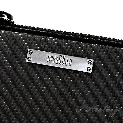 FRUHリアルカーボン 高耐久ファスナー キーケース 黒 フリューGL028 メンズ 日本製