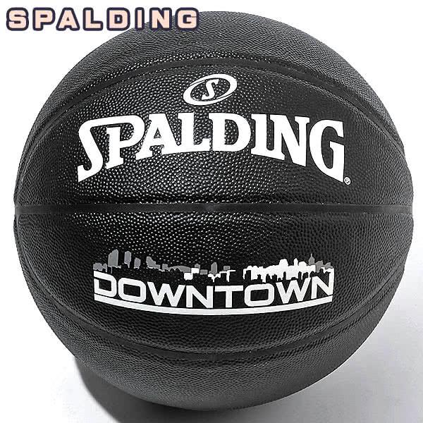 SPALDING DOWNTOWN バスケットボール7号 ダウンタウン PU コンポジット ブラック 合成皮革 スポルディング 76-586J