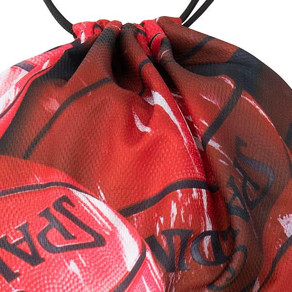 SPALDING ナップサック マーブルレッド 33L スポーツ ジムサック バスケ バッグ スポルディング SAK007MRD MARBLE RED
