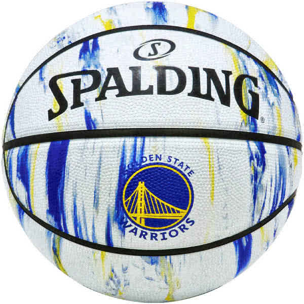 スポルディング 女性用 バスケットボール 6号 NBAゴールデンステート ウォリアーズ マーブル ホワイト バスケ 84-313J ゴム 外用ラバー SPALDING