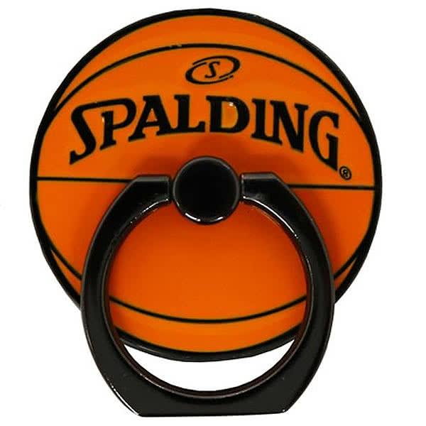 SPALDING メタル スマートフォンリング オレンジ 合金 バスケットボール グッズ スポルディング 11-014OR