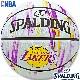 SPALDING ミニバス バスケットボール5号 NBAロサンゼルス レイカーズ マーブル 小学校 子供用 ラバー スポルディング83-927J