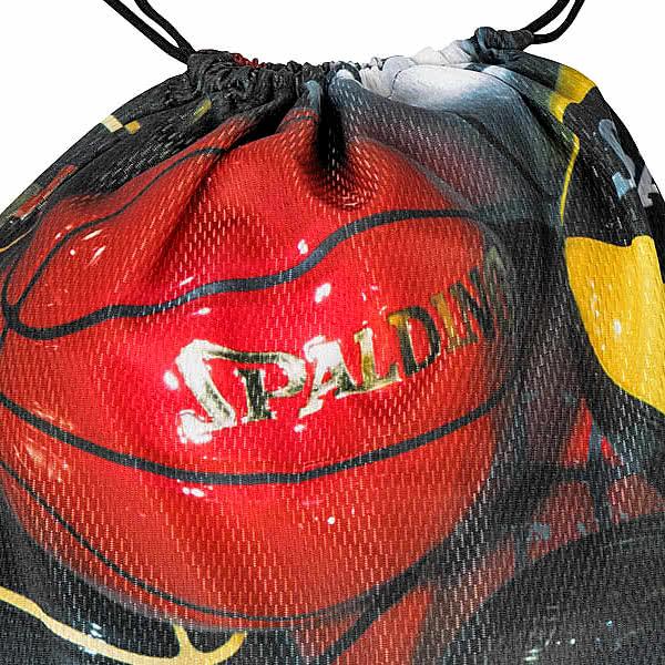 SPALDING ナップサック アンダーグラス ブラック 33L スポーツ ジムサック バスケ バッグ スポルディング SAK002UG UNDERGLASS