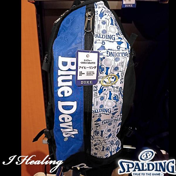 DUKE ケイジャー 壁画グラフィティ ブルー バスケットボール用バッグ デューク バックパック リュック スポルディング40-007DKG