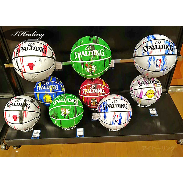 SPALDING バスケットボール7号 NBAロサンゼルス レイカーズ マーブル ラバー スポルディング83-933J