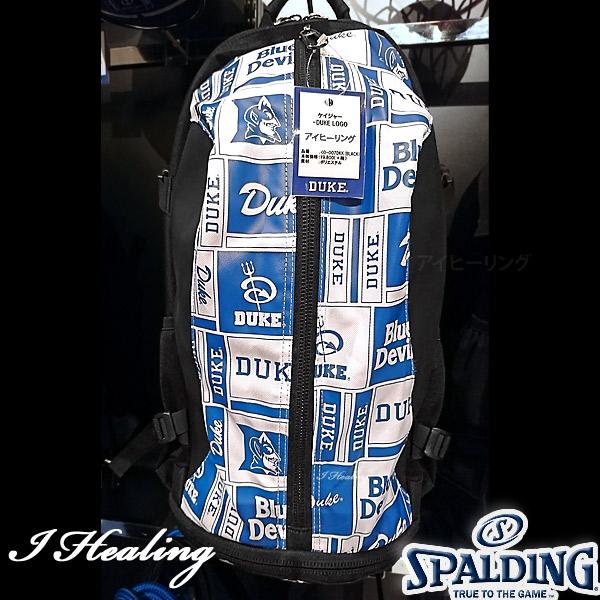DUKE LOGO ケイジャー ロゴ ブルー バスケットボール用バッグ デューク バックパック リュック スポルディング40-007DKB
