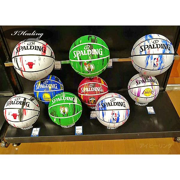 SPALDING バスケットボール7号 NBAシカゴ ブルズ マーブル ラバー スポルディング83-930J