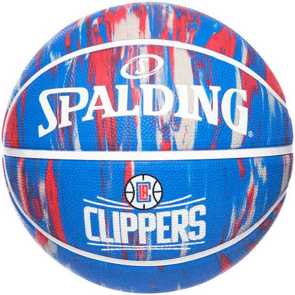 スポルディング バスケットボール 7号 ロサンゼルス クリッパーズ マーブル ブルー バスケ 84-135Z ゴム 外用ラバー SPALDING