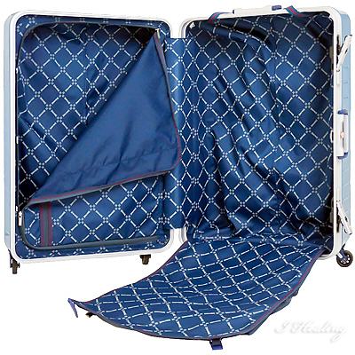 スポルディング 衝撃吸収スーツケース 大型 ハイパー サスペンションキャスター96L ネイビー キャリーケース SPALDING SP-0700-68NAVY