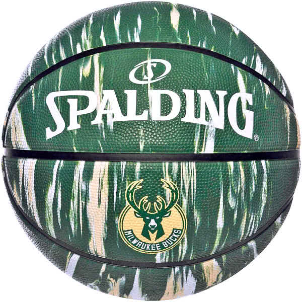 スポルディング バスケットボール 7号 ミルウォーキーバックス マーブル グリーン バスケ 84-148Z ゴム 外用ラバー SPALDING