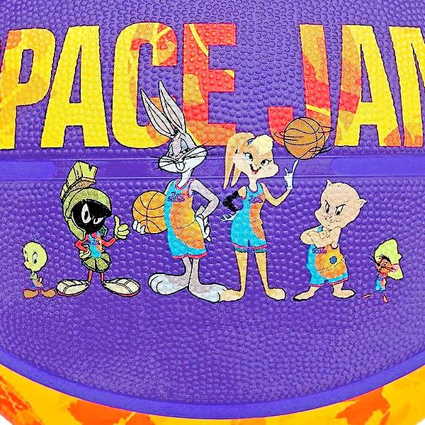 スポルディング バスケットボール 7号 スペースジャム テューン スクワッド イエロー バスケ 84-595Z ゴム 外用ラバー SPALDING