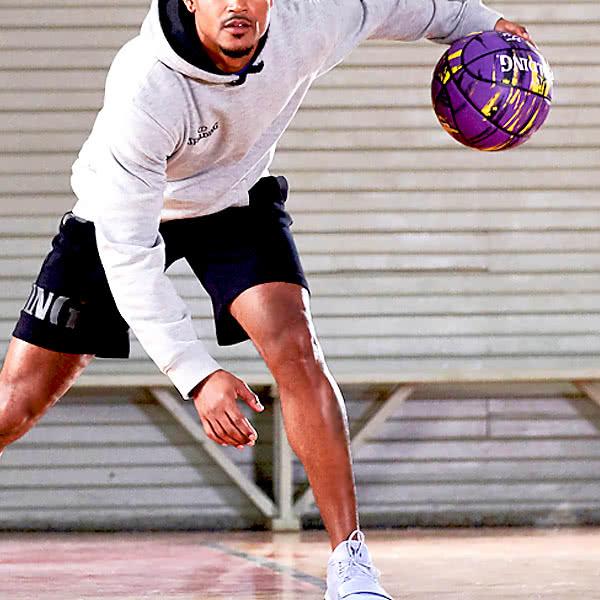 コービーブライアント バスケットボール 7号 マーブル ゴム パープル 大理石柄ラバー スポルディング 84-005Z