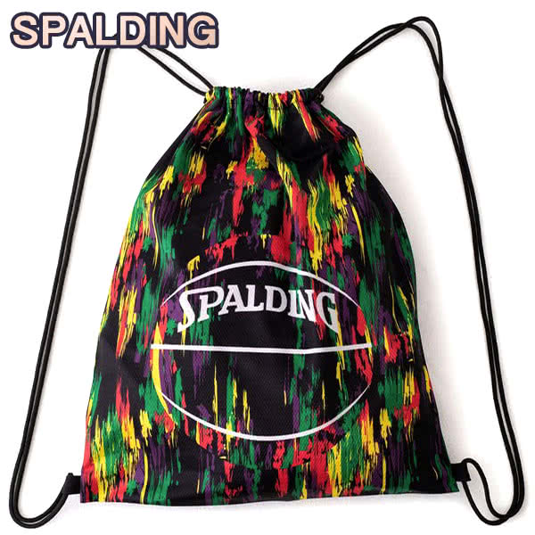 SPALDING ナップサック マーブルパープル 33L スポーツ ジムサック バスケ バッグ スポルディング SAK006MBL MARBLE PURPLE