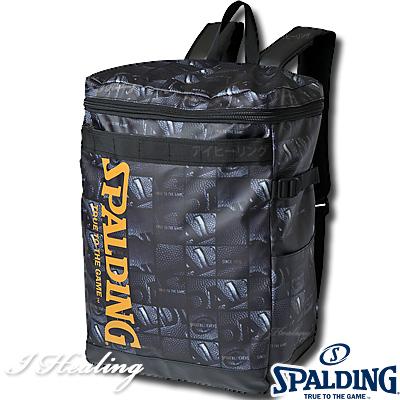 SPALDING ダウンタウン ボールウインドウ バスケットボール ボックス型リュックサック スポルディング バッグ 49-003BW BALL WINDOW