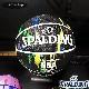 SPALDING バスケットボール7号 マーブル ブラック マルチ 大理石柄 ラバー スポルディング71-101Z