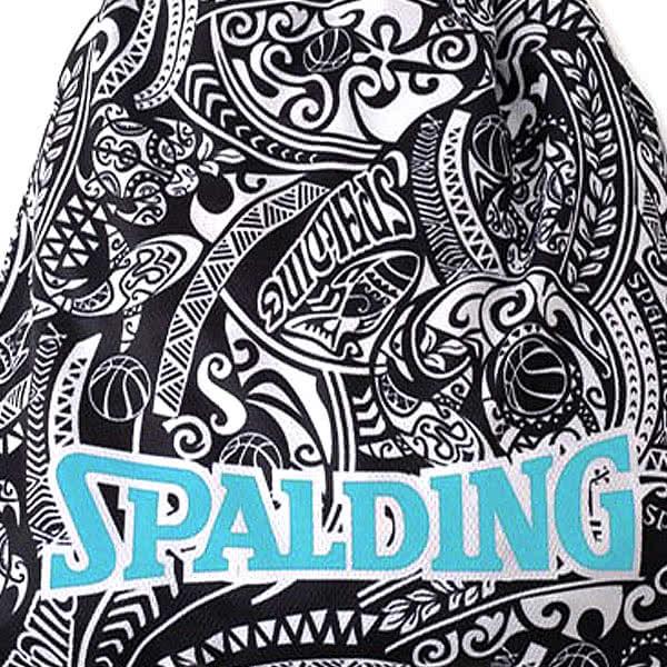 SPALDING ナップサック ポリネシアンブラック 33L スポーツ ジムサック バスケ バッグ スポルディング SAK002POLBK POLYNESIAN BLACK