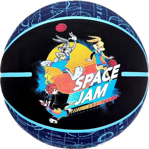 スポルディング ミニバス バスケットボール 5号 スペースジャム テューンコート バスケ 84-596Z 小学校 子供用 ゴム 外用ラバー SPALDING 21AW