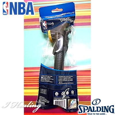 SPALDING NBA 空気圧ゲージ付 バスケットボール空気入れ デュアルアクションポンプ スポルディング8485SCN