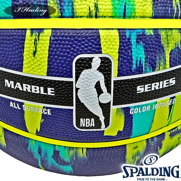 SPALDING バスケットボール7号 マーブル ネイビー マルチ 大理石柄 ラバー スポルディング83-952J