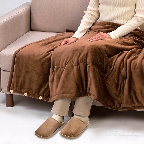 足ふわふわ あたたかスリッパ ブラウン 室内用 内側ウール 中底シンサレート綿
