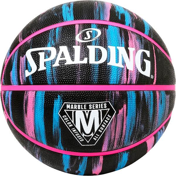 スポルディング バスケットボール 7号 マーブル ブラックネオン バスケ 84-400Z ゴム 外用ラバー SPALDING 21AW