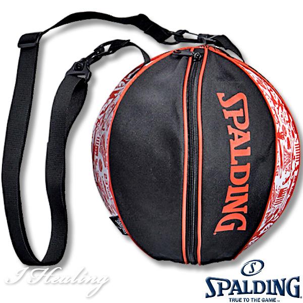 SPALDING ボールバッグ グラフィティ オレンジ バスケットボール収納 GRAFFITI ORANGE スポルディング49-001GF