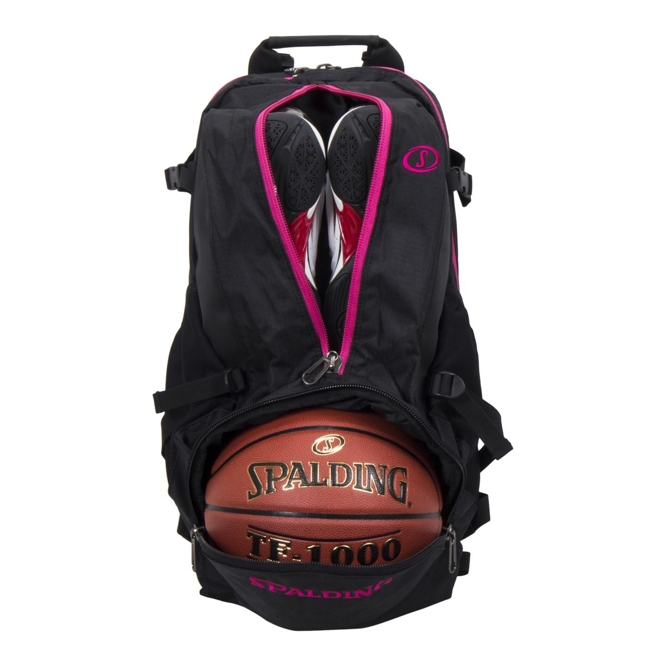 SPALDINGケイジャー ピンク 収納バスケットボールバッグ スポルディング40-007PK