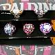 SPALDING 女性用バスケットボール6号 フォーハー マーブル ブラック ピンク 大理石柄 ラバー スポルディング83-875Z