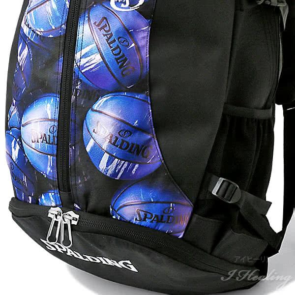 バスケットボール バッグ 大容量 ジャイアント ケイジャー マーブルブルー 41-010MBL バスケ リュック バックパック 46L スポルディング CAGER