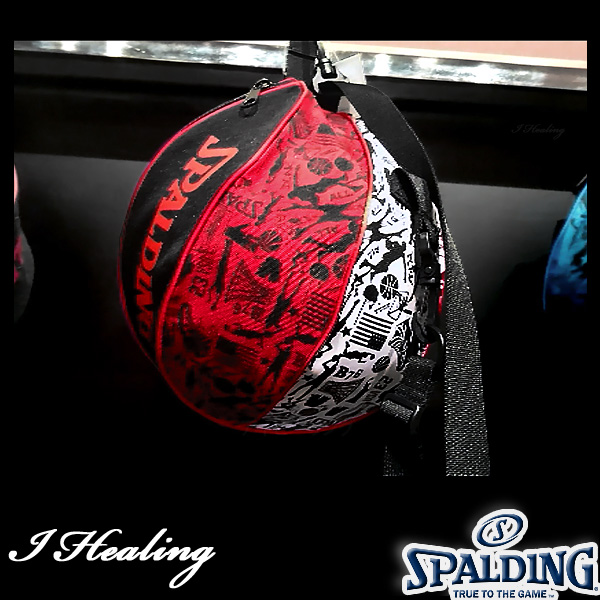 SPALDING ボールバッグ グラフィティ レッド バスケットボール収納 GRAFFITI RED スポルディング49-001GR