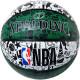 スポルディング バスケットボール 7号 壁画柄グラフィティ グリーン ホワイト バスケ 84-306J ゴム 外用ラバー SPALDING
