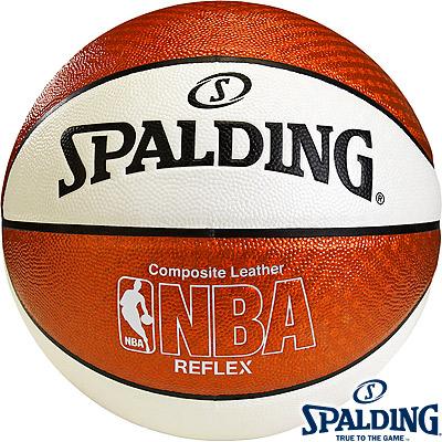 SPALDINGリフレックス オレンジホワイト バスケットボール7号 スポルディング74-573Z