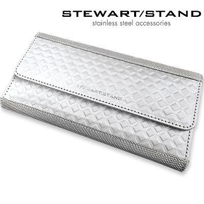 スチュワートスタンド ステンレス長財布 ダイヤモンド柄 STEWART STAND WWW3420-SVR