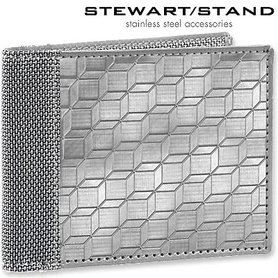スチュワートスタンド 二つ折りステンレス財布 3D柄 STEWART STAND BF3401-SVR