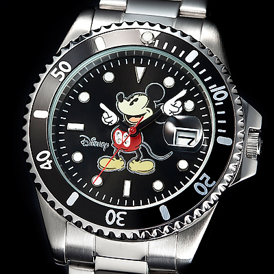 ミッキー ダイヤモンドマリーナ ダイバーズ腕時計