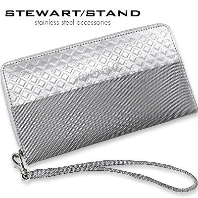 スチュワートスタンド ステンレス ラウンドファスナー長財布 ダイヤモンド柄 STEWART STAND WW3430-SVR