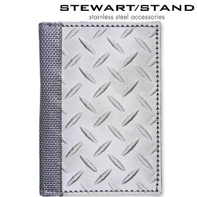 スチュワートスタンド ステンレス カードケース ダイヤモンド柄 STEWART STAND DW3701-SVR