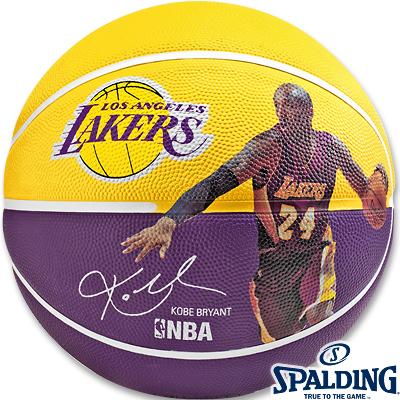 NBAコービーブライアント レイカーズ プレイヤーボール バスケットボール7号ラバー スポルディング83-342Z