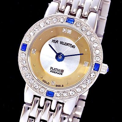 ペレバレンチノ 天然ダイヤモンド宝飾腕時計 レディース