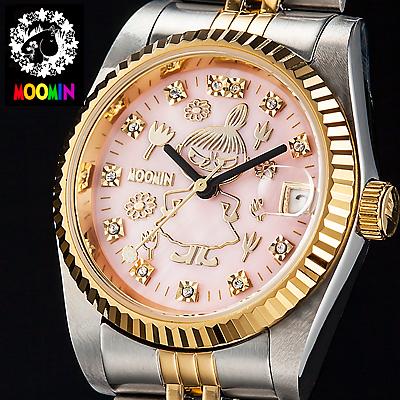 70周年記念ムーミン腕時計 リトルミイ ダイヤ スワロフスキーウォッチ 日付機能
